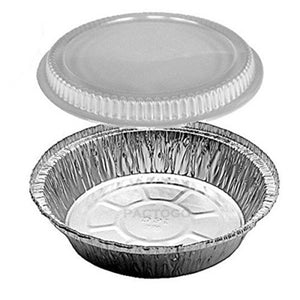 "9"" Dome Lids for Disposable Aluminum Round Pan 100PK"