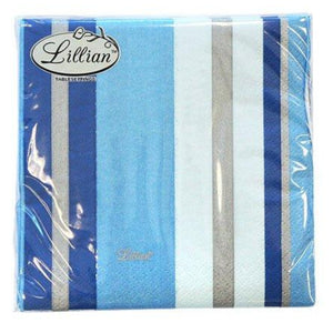 Blue Stripe Beverage Napkins