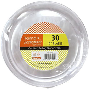 Buffet Heavy Weight Plastic Plate Clear 9""