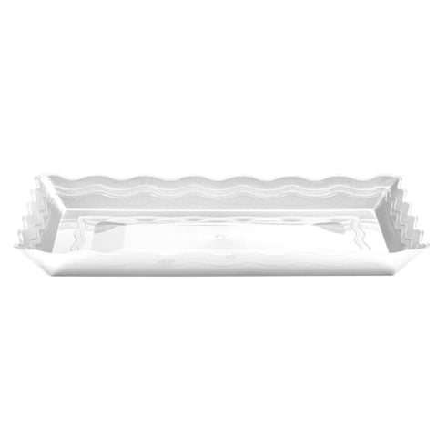 9''X13'' White Plastic Rectangular Tray
