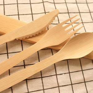 VEZEE BAMBOO DISPOSABLE SPOONS