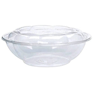 64 oz Salad To-Go Containers - Clear Plastic Disposable Salad Containers Bowls with Airtight Lids
