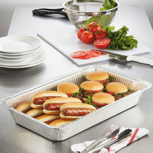Disposable Aluminum Full Size Medium Deep Baking Pan 20.75 X 12.75 X 2.2 100PK