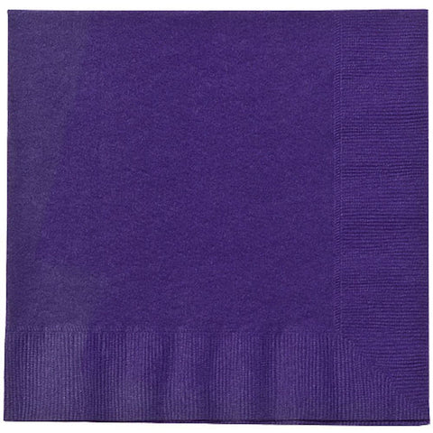 Purple Lunch Napkins 20ct