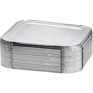"Full Sized Disposable Aluminum Lid for Deep Roster 20.75 X 12.75 X 1.2"" 100PK"