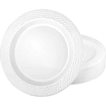 Lillian Tablesettings Pebbled Plastic Plate Clear 10.25""