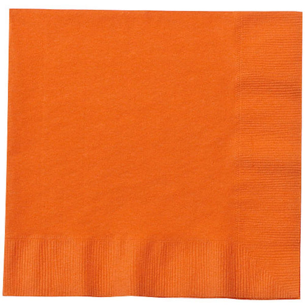 Orange Lunch Napkins 20ct