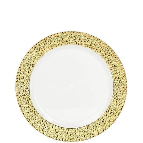 "Gold Touch Salad Plates Gold Rim 7"" 10Ct"