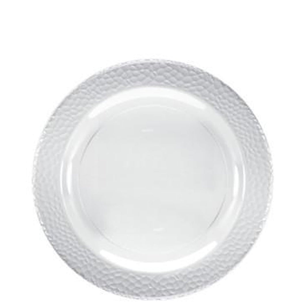 Lillian Tablesettings Pebbled Plastic Plate Clear 7.5