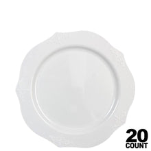 "Antique Collection Plastic Dessert Plates White 7"" 20Ct - OnlyOneStopShop"