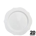 Antique Collection Plastic Dessert Plates White 7