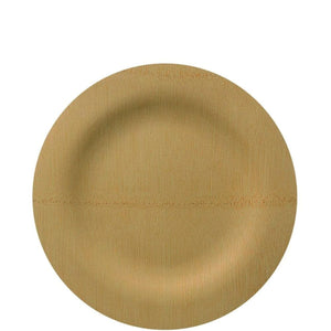 Vezee Bamboo Disposable Dinner Plates Round Size 7""