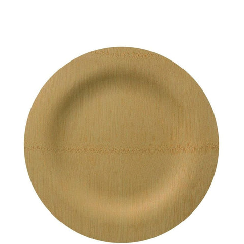 "Vezee Bamboo Disposable Dinner Plates Round Size 7"" 10CT"