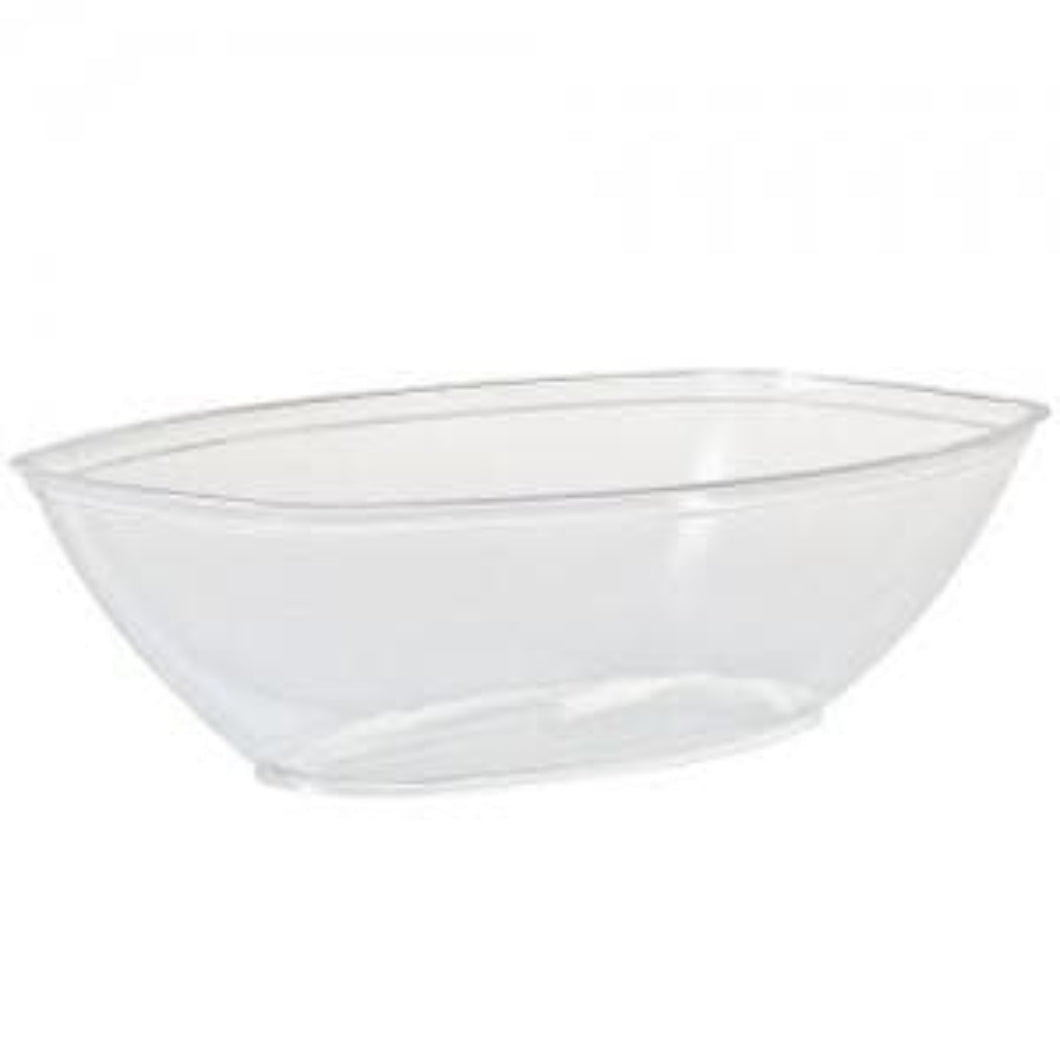 80 oz Clear Plastic Oval Luau Bowl Party Dimensions