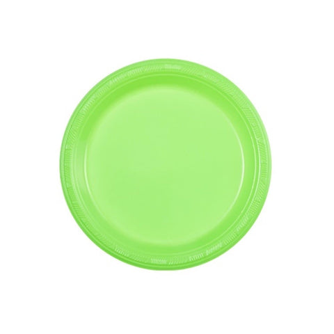 "Hanna K. Signature Plastic Plates Lime Green 7"" 50Ct"
