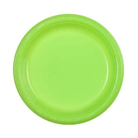 "Hanna K. Signature Plastic Plates Lime Green 9"" 50Ct"