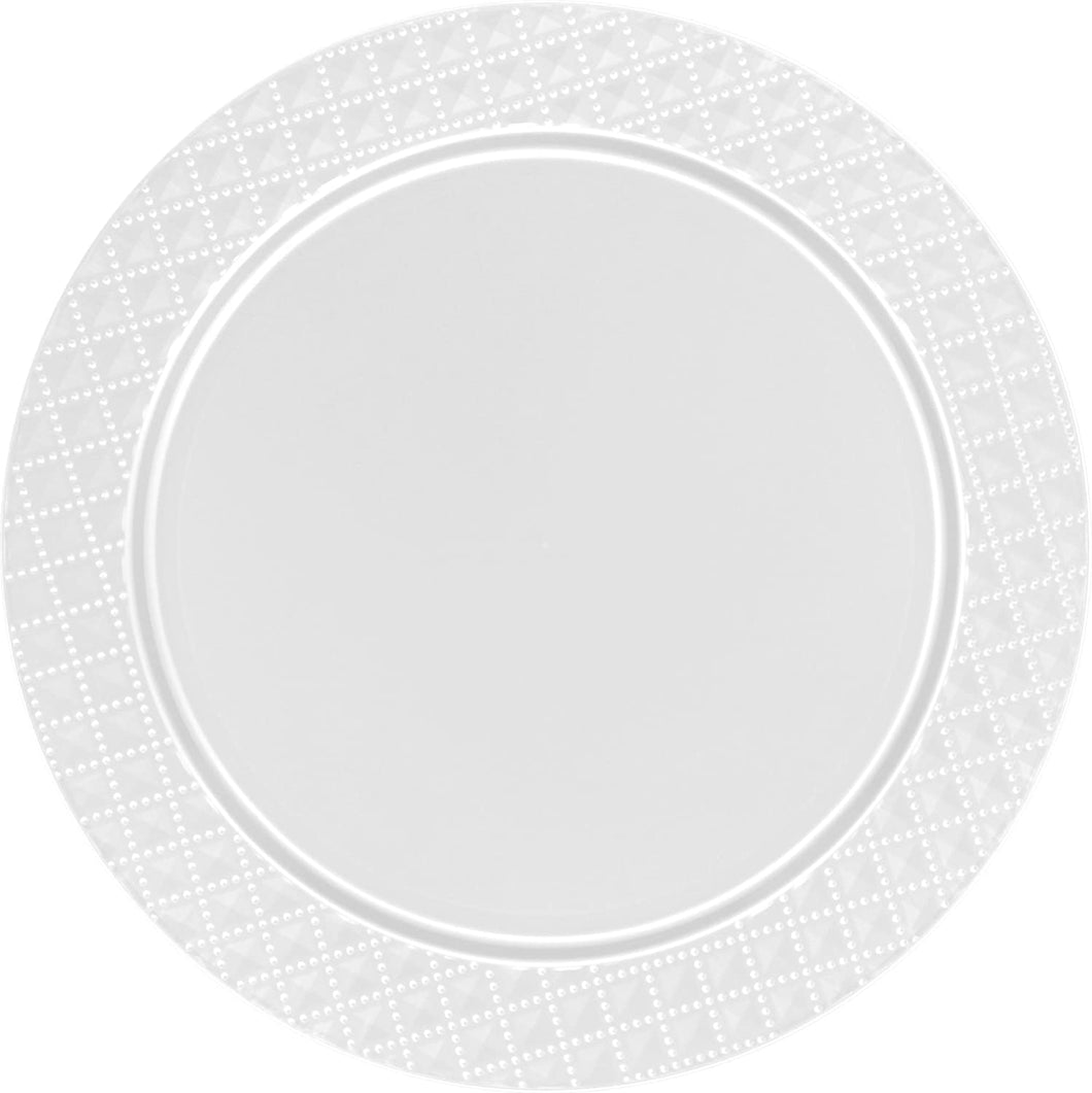 Charger Diamond Design Plates White 13