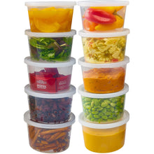 Nicole Home Collection Food Storage Container Round Clear 16 oz 6Ct