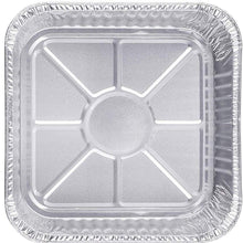 "Disposable Aluminum 8"" Square Cake Baking Pan 10PK"