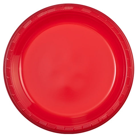 "Hanna K. Signature Plastic Plates Red 10"" 50Ct"