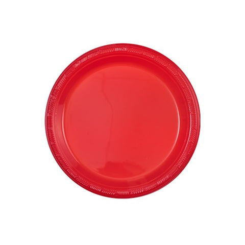 "Hanna K. Signature Plastic Plates Red 7"" 50Ct"