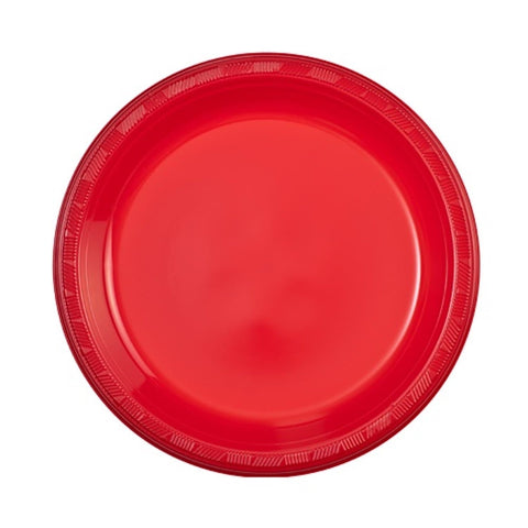 "Hanna K. Signature Plastic Plates Red 9"" 50Ct"