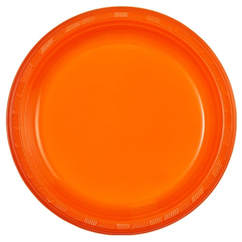 "Hanna K. Signature Plastic Plates Orange 10"" 50Ct"