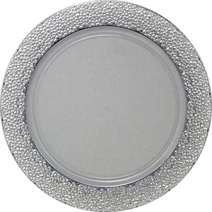 Charger Hammered Design Plates Silver 13""