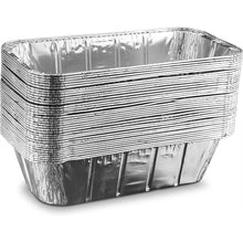 "Disposable Aluminum 5Lb Loaf Foil Pan 1/3 Size Deep 12 17/32"" L x 6.5"" W x 3 5/16"" 100PK"