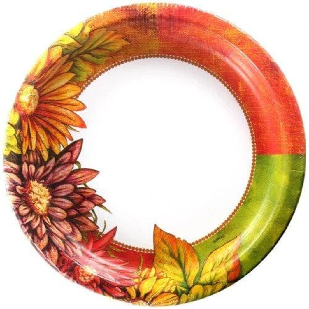Floral Art Premium Heavyweight Dinner Paper Plates 10