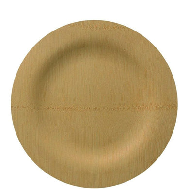 Vezee Bamboo Disposable Dinner Plates Round Size 9