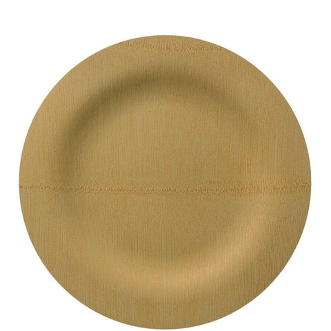 "Vezee Bamboo Disposable Dinner Plates Round Size 9"" 10ct"