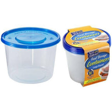 Nicole Home Collection Containers With Lids Large Round Blue 34 oz