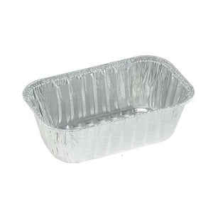 "Aluminum 1Lb Loaf Pan 6 x 3.5 x 2"" 10PK Nicole Collection"