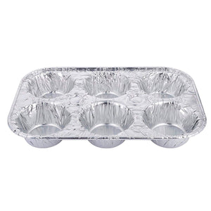 Aluminum Muffin Pan 6 Cups 10PK Nicole Collection