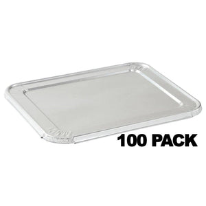 "ALUMINUM LID FOR 5 LB LOAF PAN 12 11/16"" L x 6 9/16"" W x 1/2"" H 100PK"