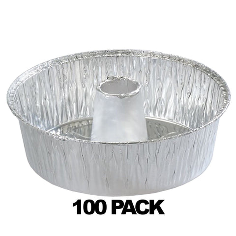 "Aluminum 8"" Angel Tube Pan 100PK"