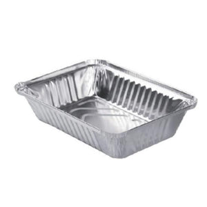"Disposable Aluminum 2 1/4Lb Oblong Foil Pan 8¾"" x 6¼"""