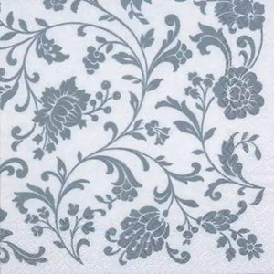 Arab White/Silver Lunch Napkins Decorline