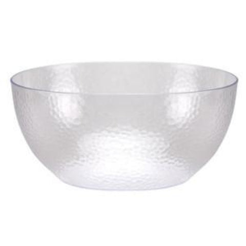 Pebbled 140  oz. Plastic Bowl Clear - OnlyOneStopShop