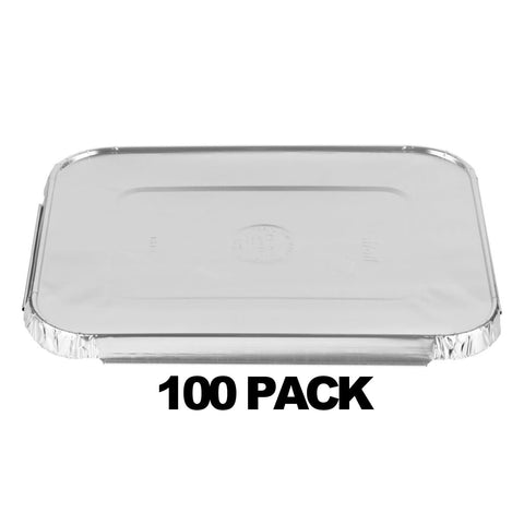 ALUMINUM LID FOR 5 LB OBLONG PANS 100PK