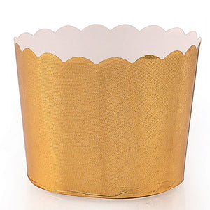 Simcha Collection Gold Floral Large Baking Cups 16Ct