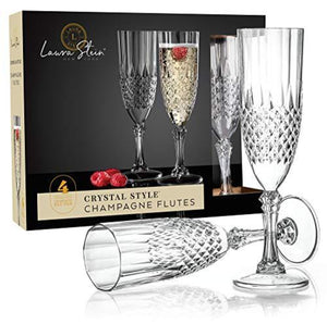 Simcha Collection Crystal Effect Champagne Flutes
