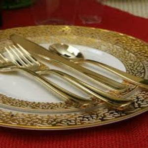 Gold Touch Salad Plates Gold Rim 7""
