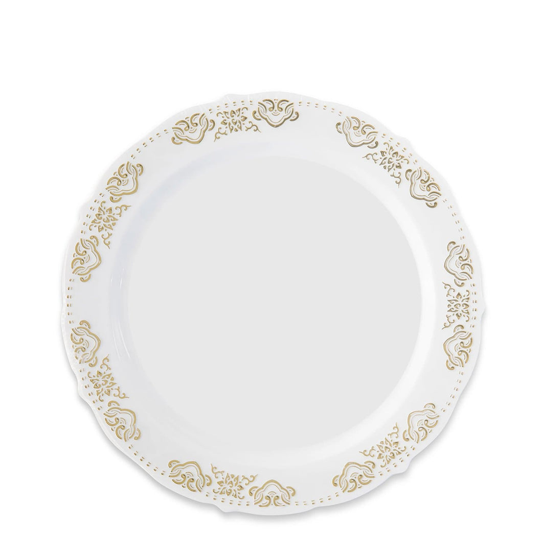 Vintage Collection Gold Dinner Plates 7.5