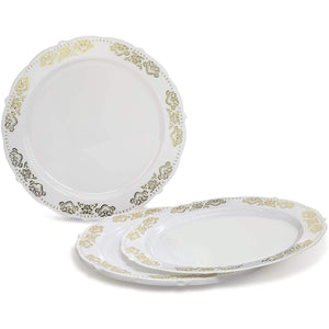 Vintage Collection Gold Dinner Plates 7.5""