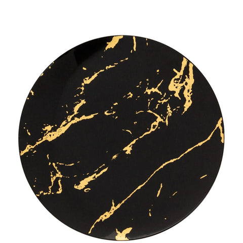 Gold Stroke Black Dinner Plates 7.5″