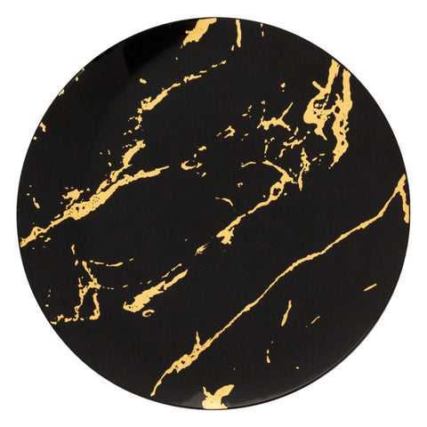 Gold Stroke Black Dinner Plates 10.25″