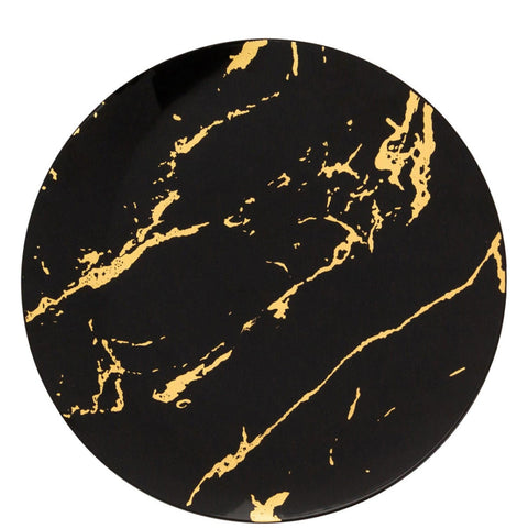 Gold Stroke Black Dinner Plates 9″