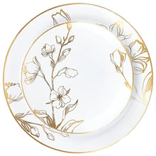 Antique Gold Floral Dinner Plates Package 168 Piece Set